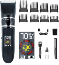 Cordless Trimmer Hair & Beard Kit Clippers for Men with Titanium Ceramic... - $49.49