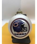 Vintage Chicago Bears Football Glass Ornament Helmet Logo NFL Used - $21.73