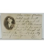 """RPPC Young Man Portrait """"Walter"""" Cute Message Real Photo Postcard P14 - $6.95"""