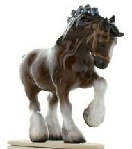 Hagen Renaker Miniature Draft Horse on Base Ceramic Figurine image 1