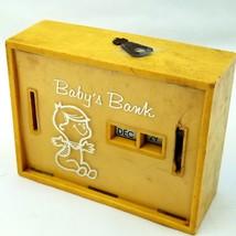 Vtg Baby's Bank All Coin Calendar Date M.A. Garett Inc & Key Piggy Still... - $12.03