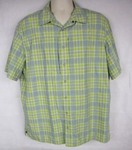 511 Tactical Shirt Carry Conceal Button Up Green and Yellow Plaid Size L... - $34.64