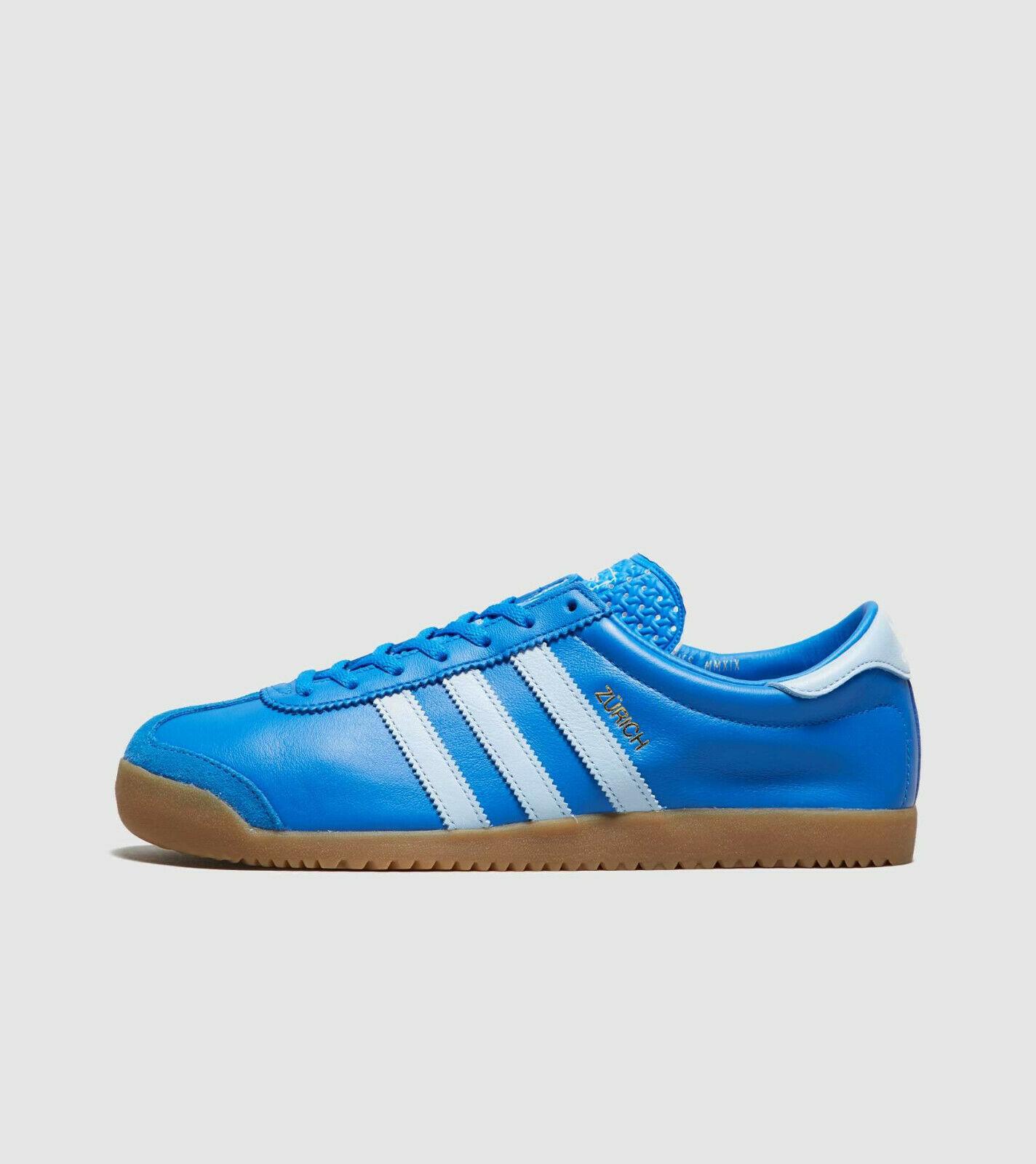 adidas Originals Zurich Blue / White  Mens Leather Trainers