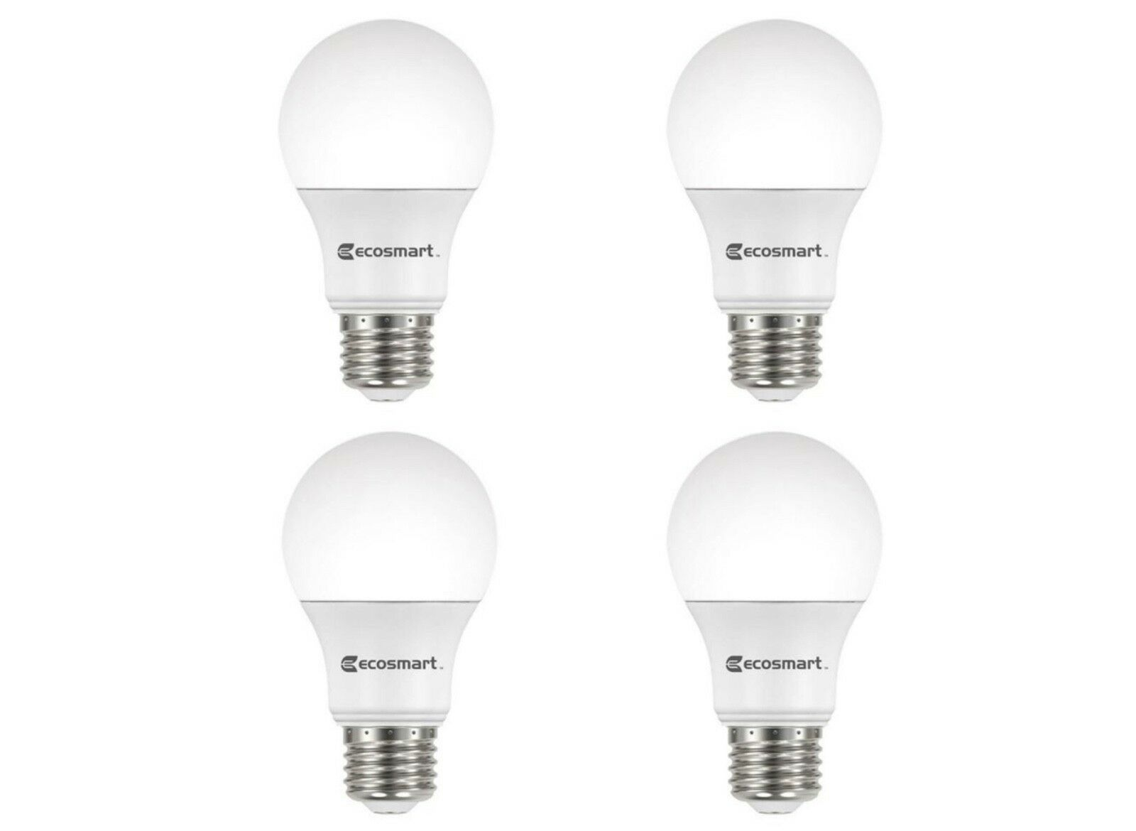 Primary image for EcoSmart 60-Watt Equivalent A19 Dimmable LED Light Bulb Soft White (4 Pack)
