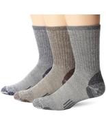 OMNIWOOL Multi-Sport Hiker Socks (3-Pair), Blue/Grey/Brown, Medium - $24.49