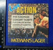 OVERSIZED BEER MAT COASTER - McEWANS LAGER EUROPEAN CONCERT TICKETS (FF99F) - $6.81