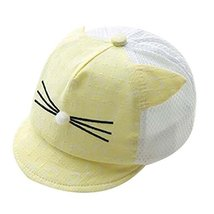 Yellow Foldable Beach Hat Summer Hat Cotton Hat Baby Cap Lovely Sunhat Nice Gift image 2