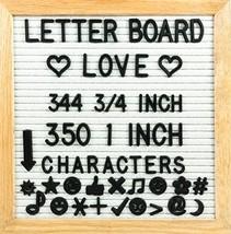 "10"" x 10"" Felt Letter Board with Solid Oak Wood Frame, 694 Letters + Spe... - $26.63"