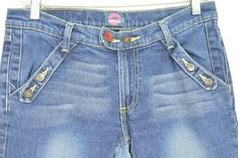 Fiorucci jeans 9 x 31 vintage buttons on pockets medium dark wash thick straight image 10