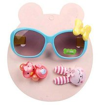 Children Hair Suit Sunglasses Bow-knot Style Hairpins and Hair Circle, Blue - €15,46 EUR