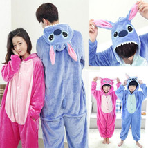 Adult/Kids Animal Kigurumi Pajamas Costume Cosplay pyjama Blue Stitch an... - $18.98