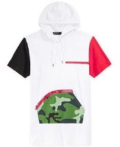 Hudson Outwear Men's Colorblock Hoodie T-Shirt with Camo Front Pocket - $22.99
