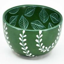 Vaneal Group Handmade Soapstone Green Vine & Leaf Design Trinket Bowl Kenya