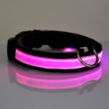 abcGOODefg Adjustable Fashionable Flashing Nylon LED Light Pet Dog Safety Collar - $14.71