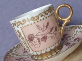 Antique 1870's Haviland Limoges France Victorian china Demitasse Tea cup teacup - $78.21