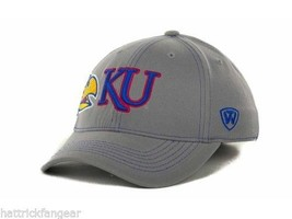 Kansas Jayhawks - Tow Ncaa Sketched Gray Stretch Fit Cap Hat - Osfm - $18.04