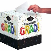 Congrats Grad Bright Colors Streamers Graduation Card Box 12 x 12 - $7.99