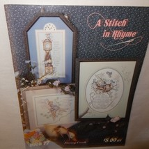 Stitch in Rhyme Cross Stitch Leaflet 77 Stoney Creek Santa 1990 Cow Over Moon - $9.99