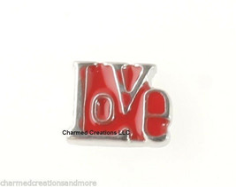 10pc Lot Red Hot Love Block Floating Charm For Glass Memory Locket Necklace - $8.90
