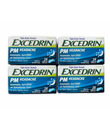Lot of 4 Excedrin PM Headache Pain Reliever Nighttime Sleep-Aid 24 Ct Ex... - $98.99