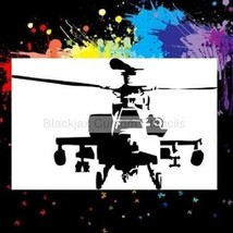 Apache Helicopter Airbrush Stencil,Camouflage - $10.99