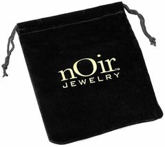 New nOir Gold Plated Eliza Cubic Zirconia Crystal Stud Post Earrings NWT image 3