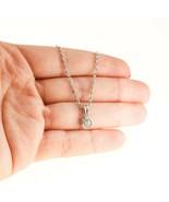 0.40ct Diamond Choker Necklace White Gold pendant BHS - $1,034.22