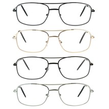 Mens Metal Rim Classic Rectangular Clear Reading Eye Glasses - $12.95