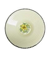"Crown Ducal A3122 Saucer 5-3/4"" Yellow Flower Brown Dots Edge Art Deco - £7.18 GBP"