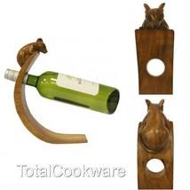 Suar Wood Hand Carved Wine / Olive Oil Bottle B... - $15.69