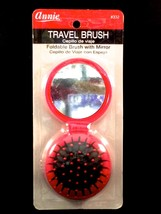 "ANNIE TRAVEL BRUSH FOLDABLE WITH MIRROR ROUND 5.5""x2.5"" #332 - $1.59"