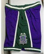 Vintage Authentic Champion NBA Team Issue Shorts Milwaukee Bucks Gamer P... - $310.00