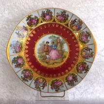 Fragonard STW Bavaria Royal Vienna Style Quatrefoil Courting Couple Plat... - $24.99