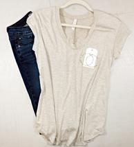 Relaxed Short Sleeve Shirt, Scoop Neck, Flutter Sleeve, Round Hem, Womens, Tan