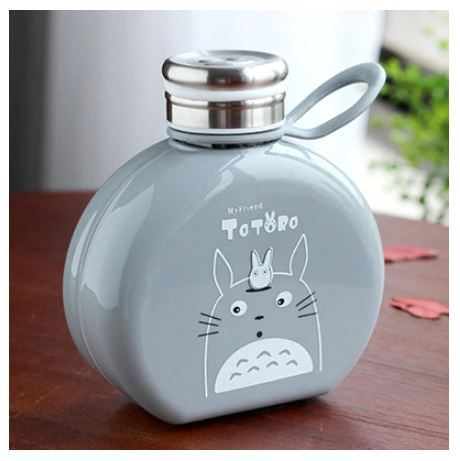 Primary image for Flat Paper Totoro Kids Water Bottle Coffee Milk Tea Portable Plastic Bottle