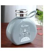 Flat Paper Totoro Kids Water Bottle Coffee Milk Tea Portable Plastic Bottle - £21.31 GBP