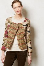 Nwt Anthropologie Kantha Printed Quilted Moto Jacket By Vineet Bahl Xs - $142.49
