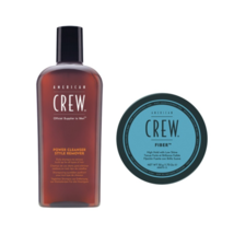 American Crew Power Cleanser Daily Shampoo 8.4 oz & Fiber Set For Men - $34.99