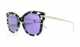 Michael Kors Sunglasses MK2047 32434V 53 Lia Snow Leopard Violet Mirror - $108.98