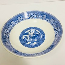 Round Vegetable Bowl Blue Willow by Homer Laughlin 8.75in Diameter Retired USA - $17.99