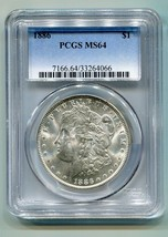 1886 MORGAN SILVER DOLLAR PCGS MS64 NICE ORIGINAL COIN PREMIUM QUALITY PQ - $89.00