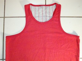 Vintage Simple Sports Tank Top Sleeveless Netted Back T Shirt L - $15.14