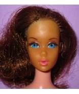 Barbie Vintage TNT Twist Turn Brunette Mod Rooted Lashes Doll for OOAK o... - $22.00