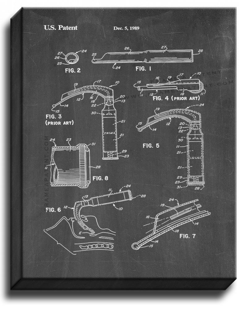 Primary image for Laryngoscope Patent Print Chalkboard on Canvas