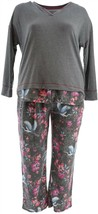 Cuddl Duds Petite Comfortwear Novelty Pajama Set Heron Floral PS NEW A31... - $27.70