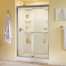 Delta Alcove Shower Door 48 in. x 70 in. Semi-Frameless Droplet Glass Ch... - $445.20
