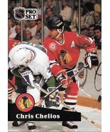 Chris Chelios ~ 1991-92 Pro Set #48 ~ Blackhawks - $0.05
