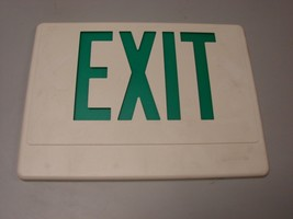 Lithonia HQM exit sign face plate Green  - $8.91