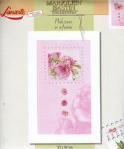 Set cross stitch Lanarte 34967 .Razmer 22/39 cm Pink roses in a frame. - $26.00