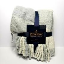 """NWT Pendleton Rob Roy Plaid Sherpa Fleece Grey/White Blanket Throw 50"""" x... - $72.57"""